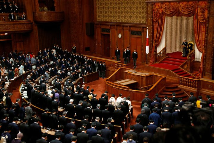 Constitutional revisions would need to pass by a two-thirds majority in both houses of the Japanese parliament.