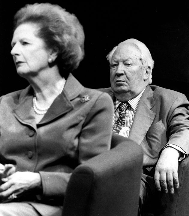 Former Prime Ministers Baroness Margaret Thacher and Ted
