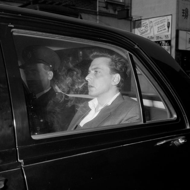 Ian Brady, while in police custody prior to his court appearance for the Moors