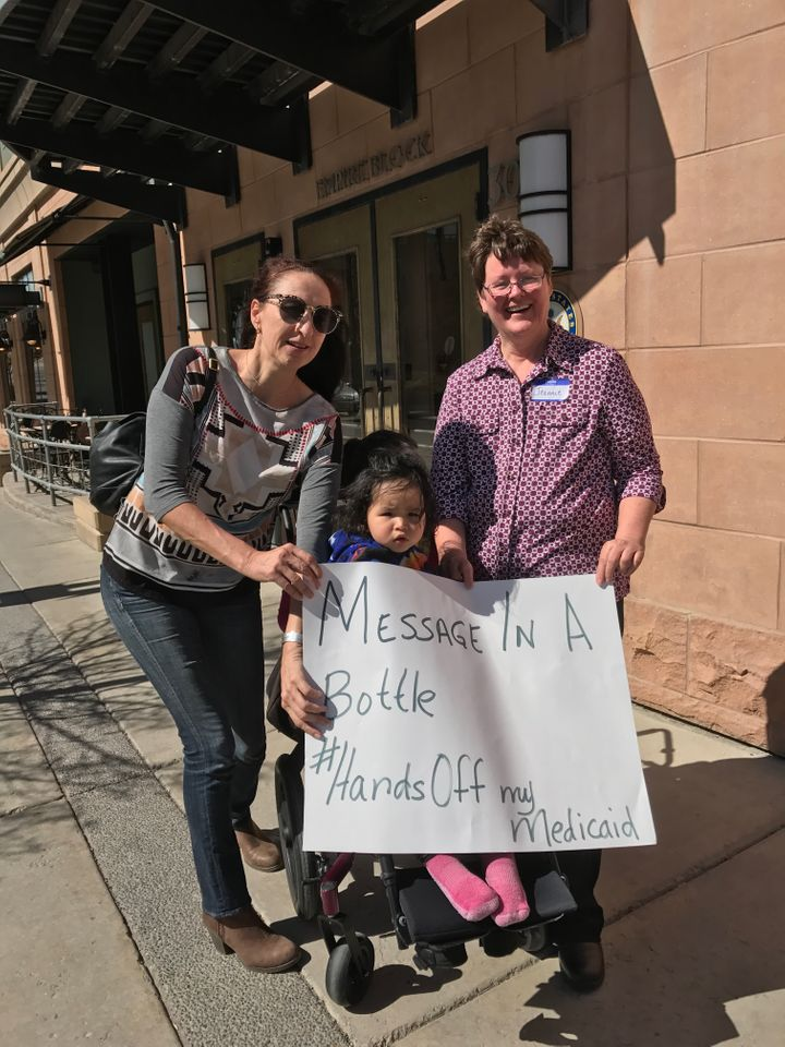 Montana Women Vote rally in Boseman, Mt. to protect Medicaid and health care for all Americans.