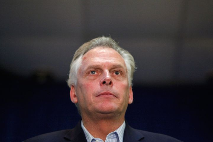 The term limit for Virginia Gov. Terry McAuliffe (D) is up, so he will not run for reelection in November.