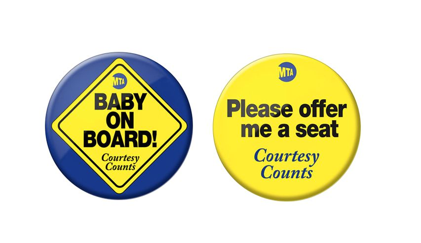 """Through the pilot program, MTA will offer """"courtesy buttons"""" to people in need of seats on the subway"""
