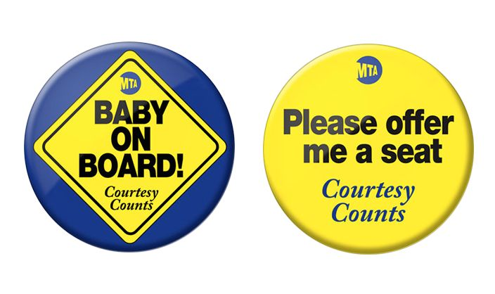 "Through the pilot program, MTA will offer ""courtesy buttons"" to people in need of seats on the subway"