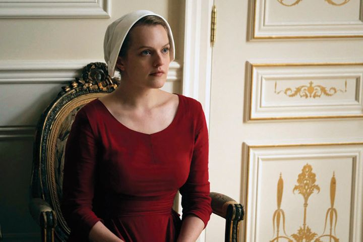 Elisabeth Moss as Offred in 'The Handmaid's Tale'