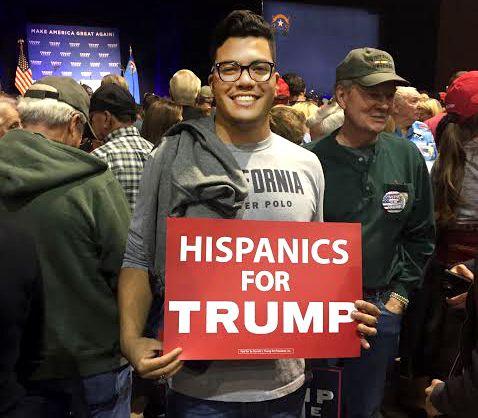 Berkeley College Republican Jonathan Chow at a Trump Rally in Reno, Nevada.