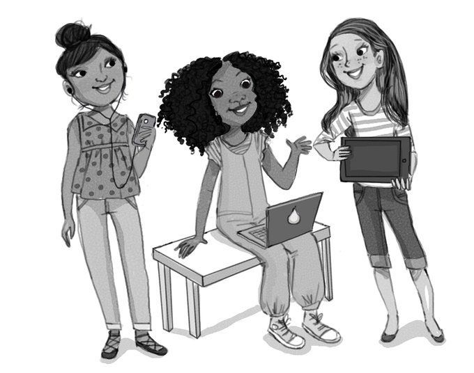 In the book, 10-year-old Sasha Savvy goes to coding camp with her two friends.