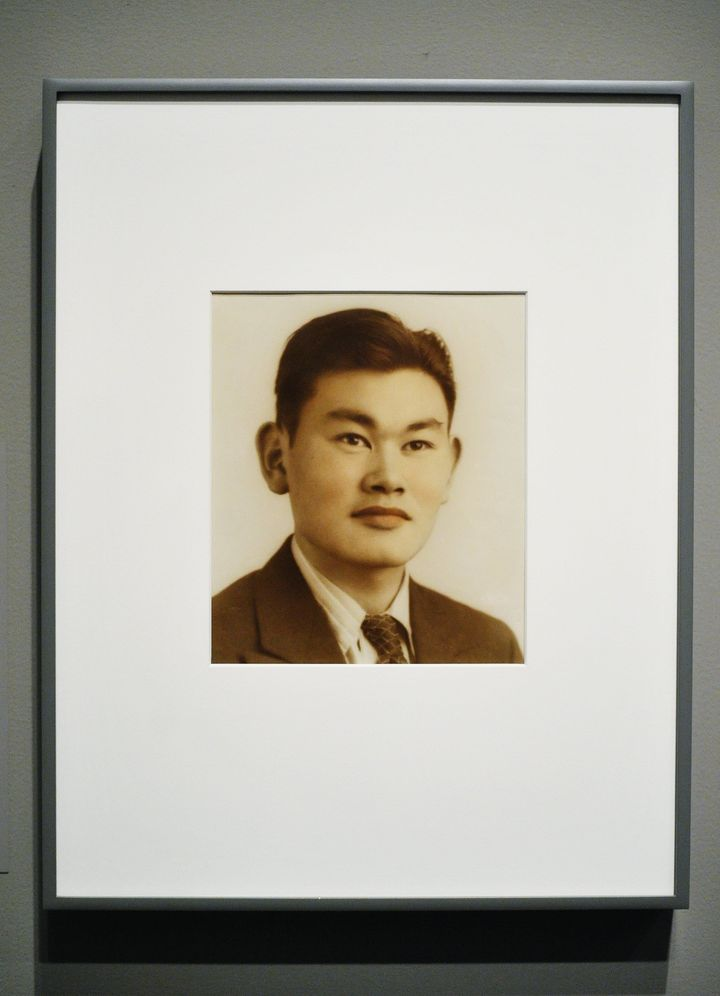 A portrait of Fred Korematsu hangs in the National Portrait Gallery on Feb. 2, 2012 in Washington, D.C.