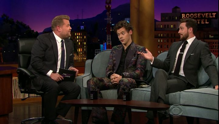 Harry Styles Entertains on First Night of 'Late Late Show' Residency
