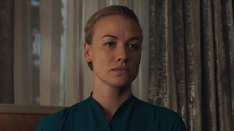 "THE HANDMAID'S TALE -- ""Offred"" - Episode 101 - Offred, one the few fertile women known as Handmaids in the oppressive Republic of Gilead, struggles to survive as a reproductive surrogate for a powerful Commander and his resentful wife. Serena Joy (Yvonne Strahovski), shown. (Photo by: Take Five/Hulu)"