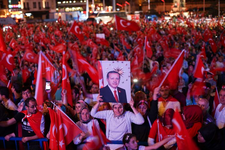Anti-coup rally in Istanbul, 22 July 2016.