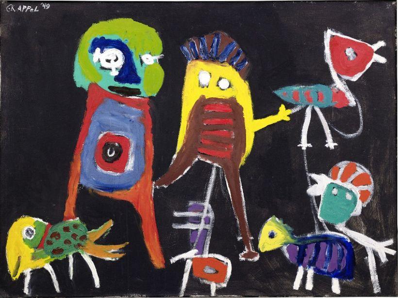 """Karel Appel, """"Petit Hip Hip Hourra"""" (1949)."""