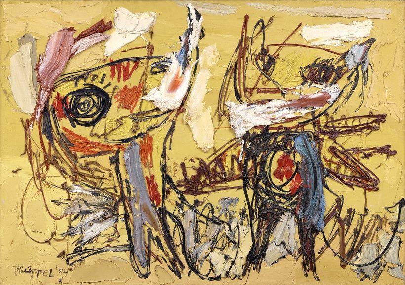"Karel Appel, ""Danseurs de désert"" (1954)."