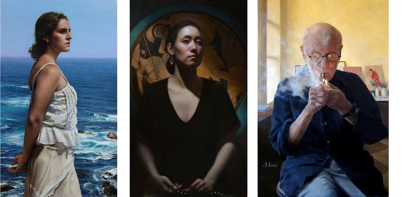 <em>The Whale Watcher</em> by Duffy Sheridan, <em>Fritter and Waste </em>by Emanuela De Musis<em>, and Blowing Smoke (Portrai