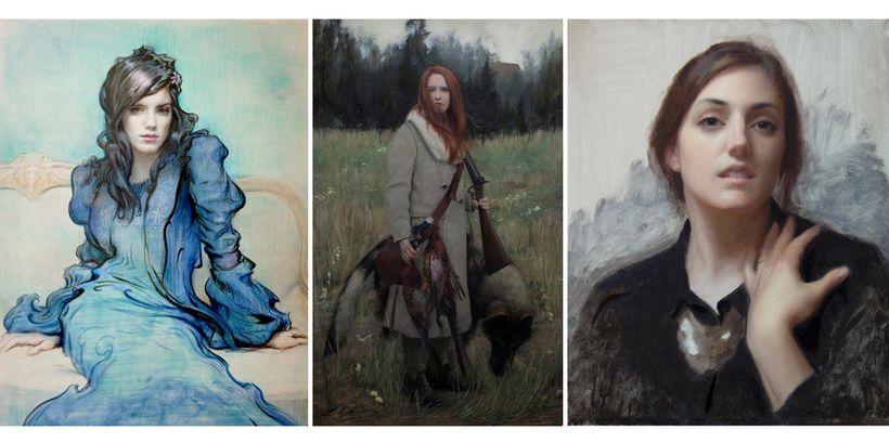 <em>Kick Kennedy</em> by Christopher Pugliese, <em>Peasant Hunter</em> by David Gluck, and <em>Laura in Black</em> by Joshua