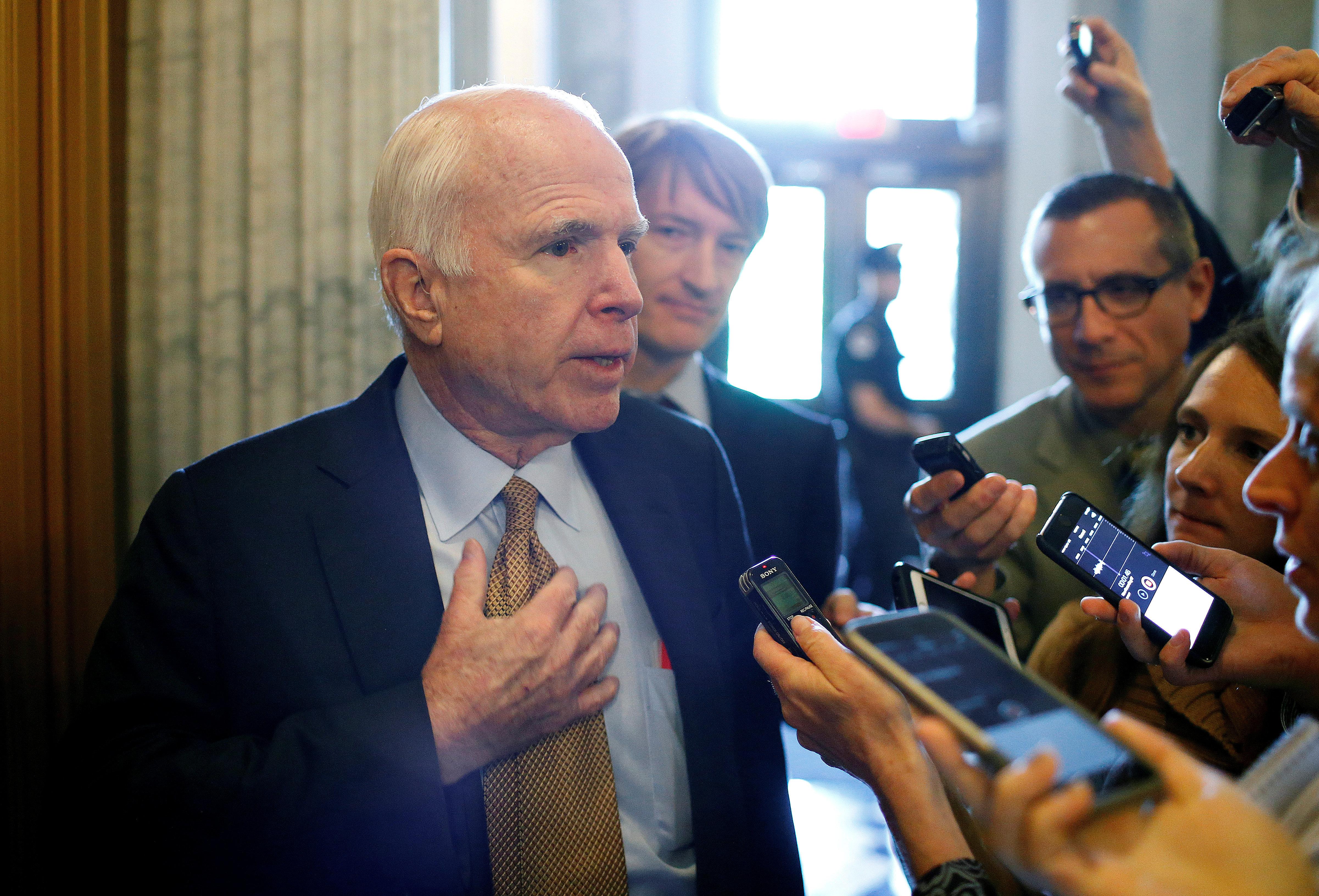 John McCain: Trump Scandals 'Reaching Watergate Size And