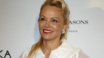 PARIS, FRANCE - MAY 16:  Actress Pamela Anderson attends Global Gift Gala 2017 at Hotel George V on May 16, 2017 in Paris, France.  (Photo by Laurent Viteur/WireImage)