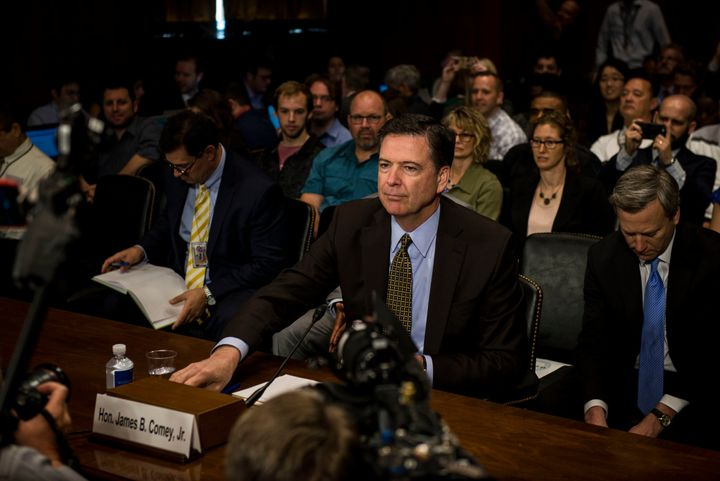 James Comey testifies before Congress in hearings into Trump campaign associates and their relationship with Russia.