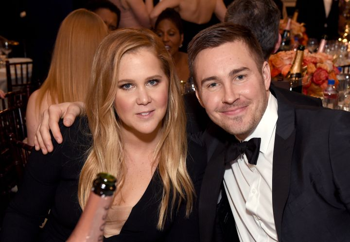 Schumer and Hanisch at the Golden Globes on Jan. 8.