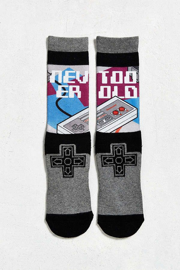"<a href=""https://www.urbanoutfitters.com/shop/nintendo-controller-sock?category=mens-socks&color=004"" target=""_blank"">$12"