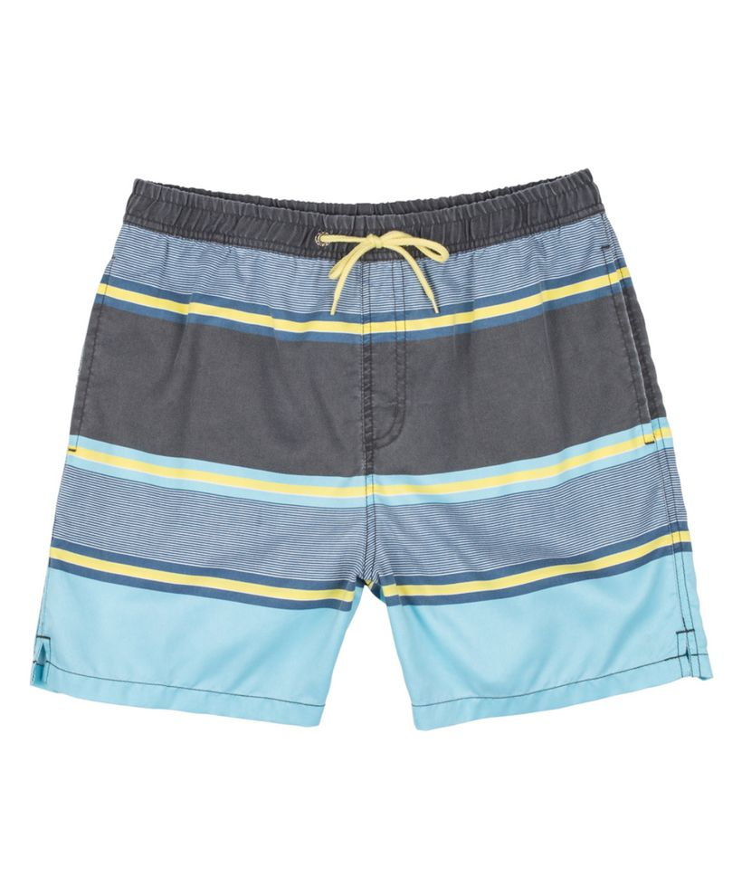 Blue Stripe Swim Trunks