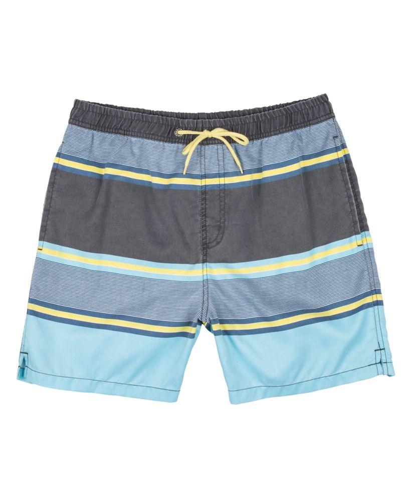 Blue Stripe Swim Trunks