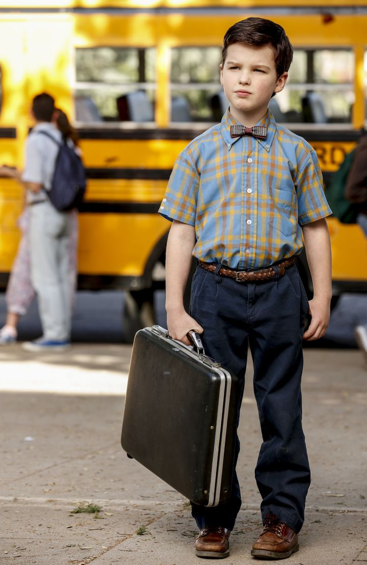 Iain Armitage as 9-year-old Sheldon living with his family in East Texas and going to high school.