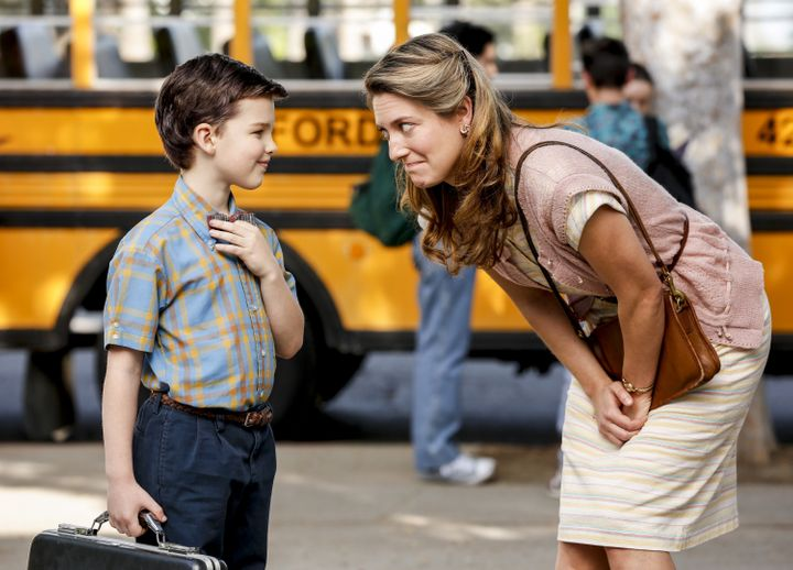 Zoe Perry playing Sheldon's mom.