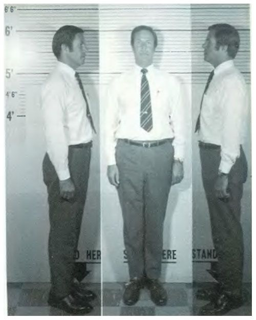 Nixon's Chief of Staff, H. R. Haldeman, mug shot, 1973