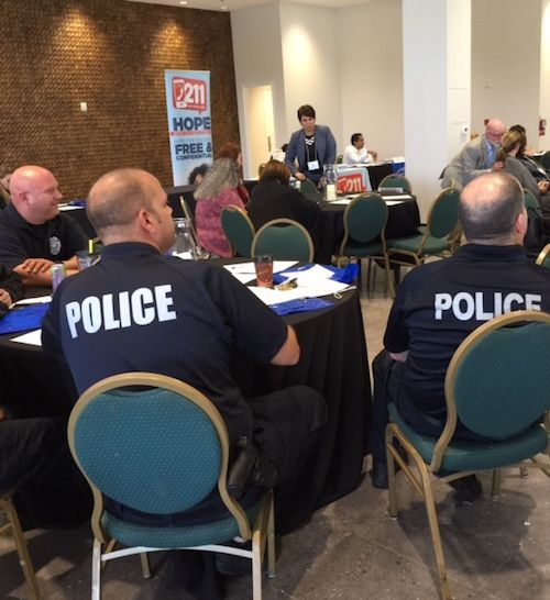 West Palm Beach police officers at a Mental Health Association of Palm Beach County event