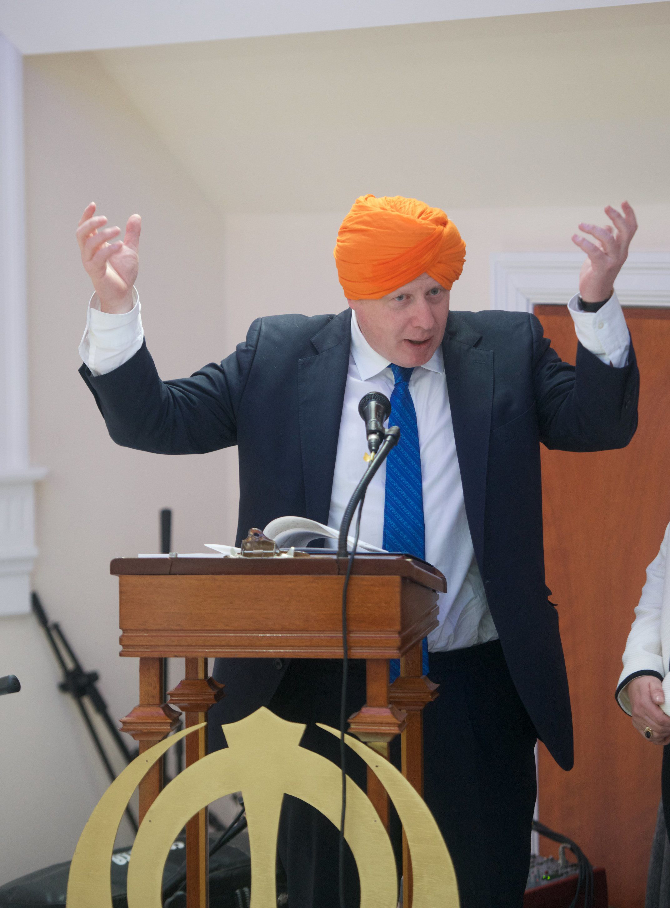 Boris Johnson caused controversy when he made a quipabout alcohol during a visit to a Sikh