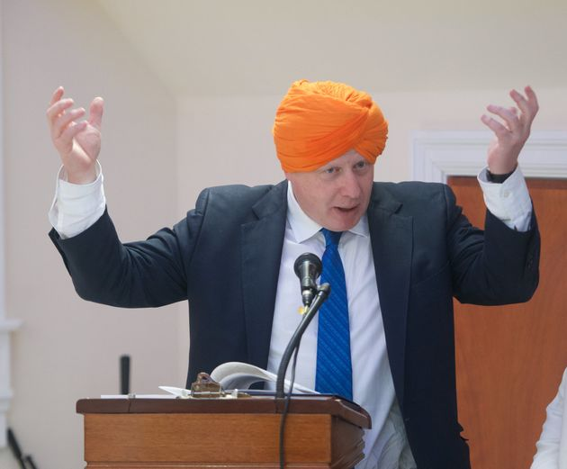 Boris Johnson attended the Sikh temple on Wednesday