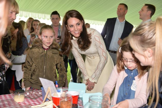 The Duchess of Cambridge mingles with some of the