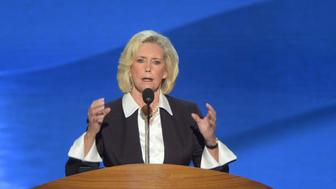 CHARLOTTE, NC - SEPTEMBER 4:  Lilly Ledbetter, who sued Goodyear Tire & Rubber Co. over pay disparity, addresses the crowd on opening night of the 2012 Democratic National Convention at the Time Warner Cable Center on September 4, 2012 in Charlotte, North Carolina.  (Photo by Jonathan Newton/The Washington Post via Getty Images)