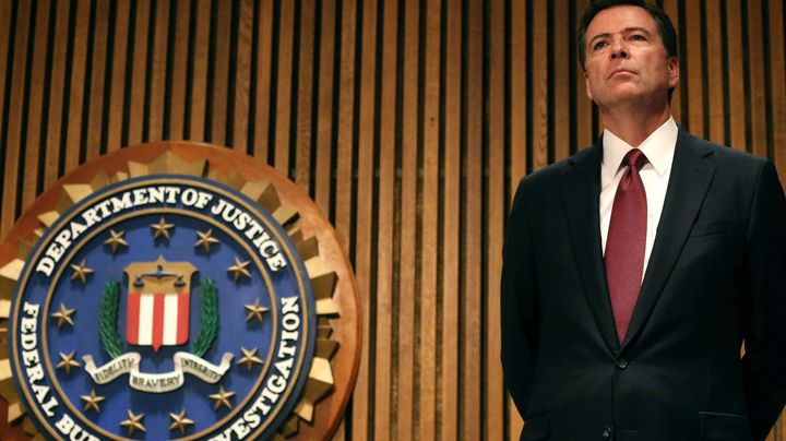 Former FBI Director James Comey, who allegedly wrote a memo accusing President Donald Trump of interfering in the investigati