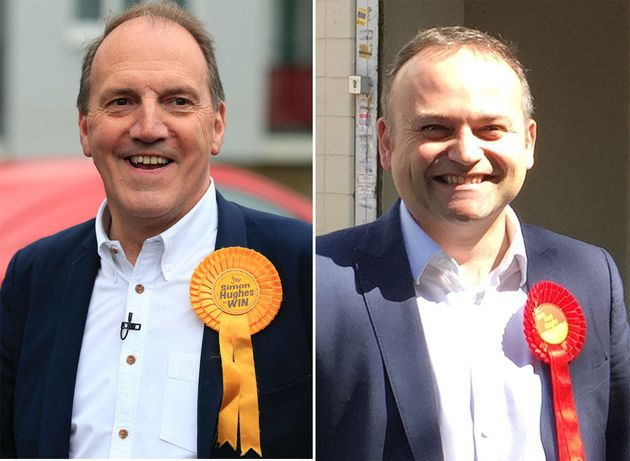 Simon Hughes, left, and Neil
