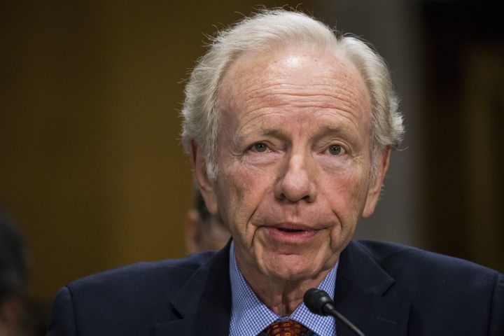 Former Sen. Joe Lieberman testifies on behalf of David Friedman in front of the Senate Foreign Relations Committee on Fe