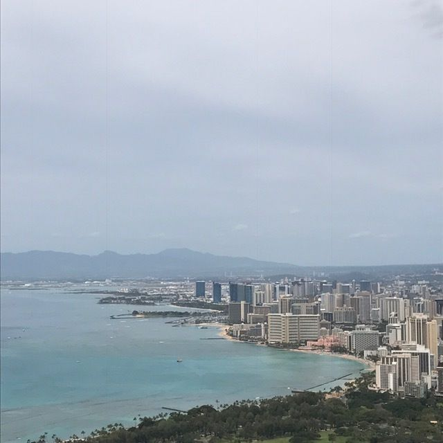 Views of Honolulu and Waikiki Beach are worth the climb to the top of Diamond Head