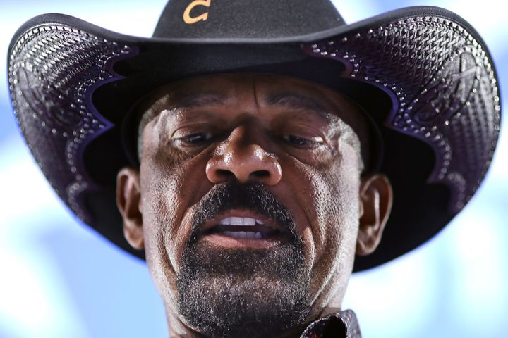 Milwaukee County Sheriff David Clarke was a booster of President Donald Trump during the 2016 campaign.