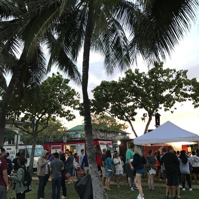 Locals and tourists get in on the action at Eat The Street on the last Friday of the month.