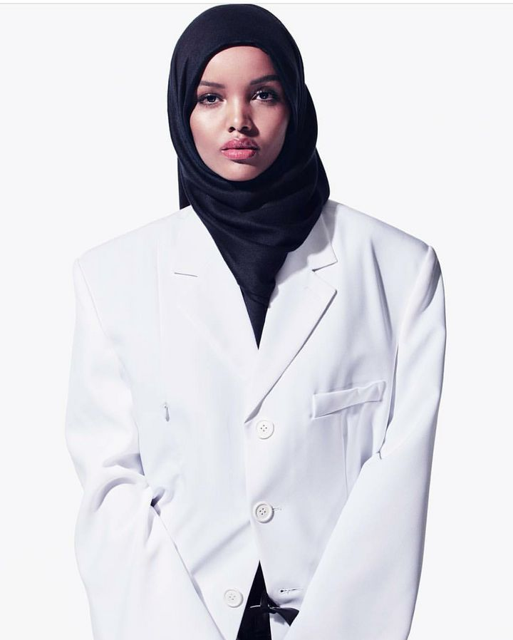 Halima Aden is a Somali-American model. She is known for being the first Somali-American Muslim to compete in the Minnesota U