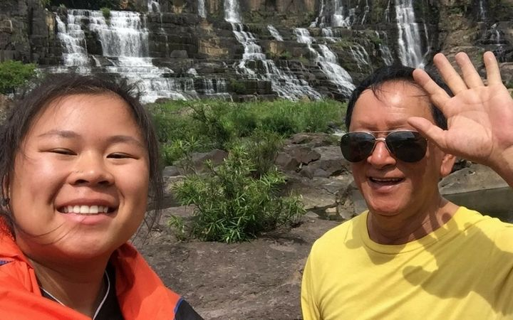 Angeline Tu Tran unknowingly became the ultimate wing woman for her dad.