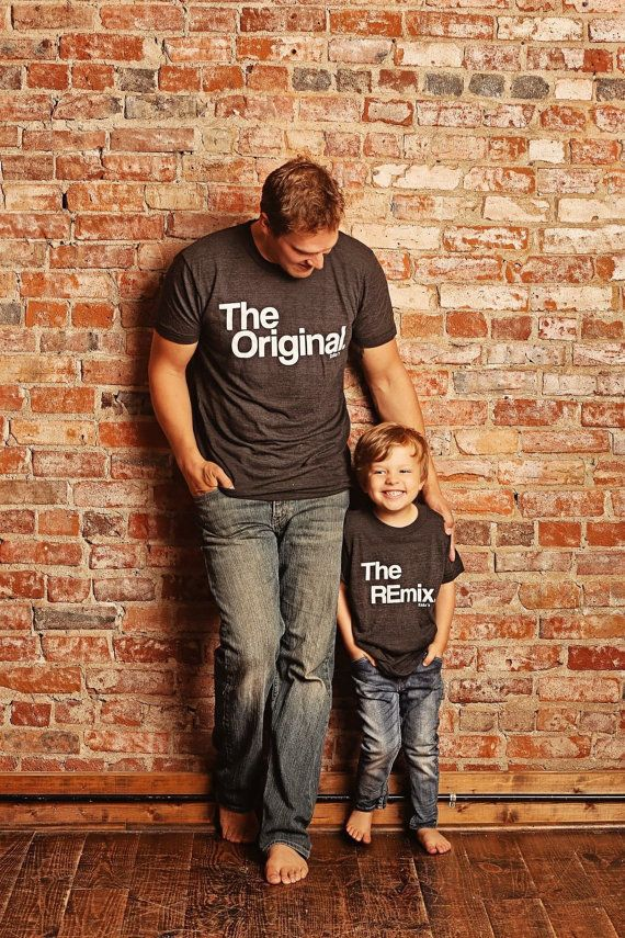 "<i>The Original and The Remix tees, $24+ at <a href=""https://www.etsy.com/listing/478257067/fathers-day-gift-matching-fa"