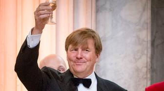 AMSTERDAM, NETHERLANDS - APRIL 28: Princess  Orrange host an diner for 150 Dutch people to celebrate his 50th birthday in the on April 28, 2017 in Amsterdam, Netherlands. After the diner the King and the Queen open the Royal Palace for 50 hours with an exhibition that gives an overview of the Netherlands in the last 50 years. (Photo by Patrick van Katwijk/Getty Images)