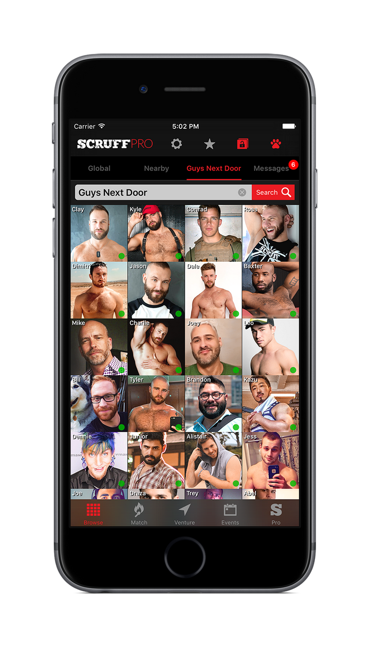 The Scruff grid