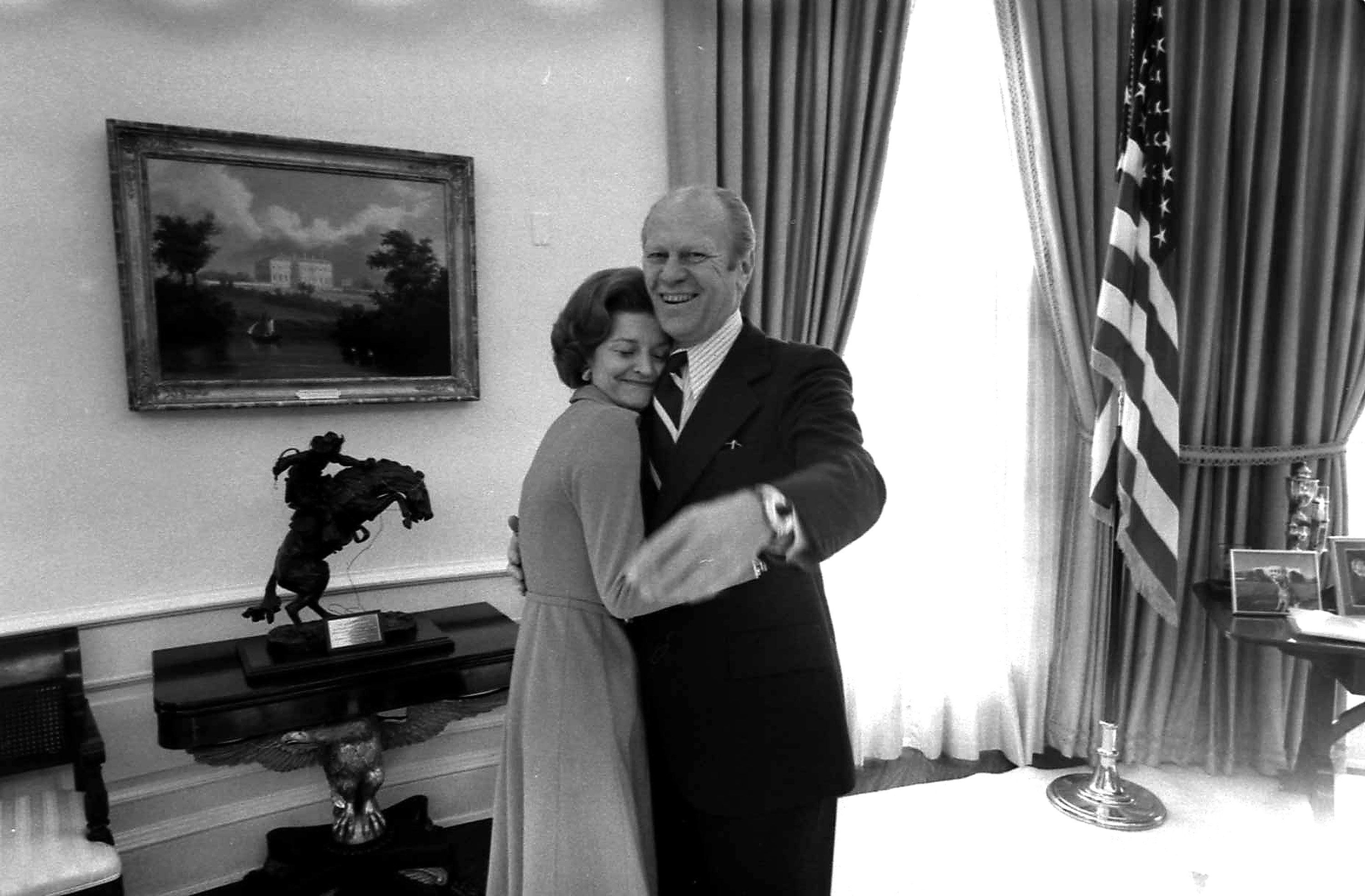 President Gerald Ford and his wife, Betty Ford, in the Oval Office. He served as commander-in-chief for just 895 days.