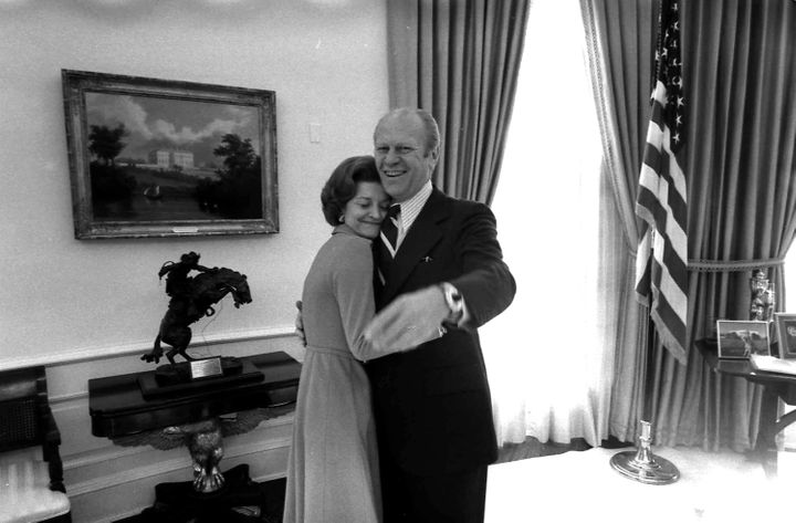 President Gerald Ford and his wife, Betty Ford, in the Oval Office. Heserved as commander-in-chief for just 895 days.