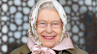 WINDSOR, UNITED KINGDOM - MAY 12: (EMBARGOED FOR PUBLICATION IN UK NEWSPAPERS UNTIL 48 HOURS AFTER CREATE DATE AND TIME) Queen Elizabeth II attends the Endurance event on day 3 of the Royal Windsor Horse Show in Windsor Great Park on May 12, 2017 in Windsor, England. (Photo by Max Mumby/Indigo/Getty Images)