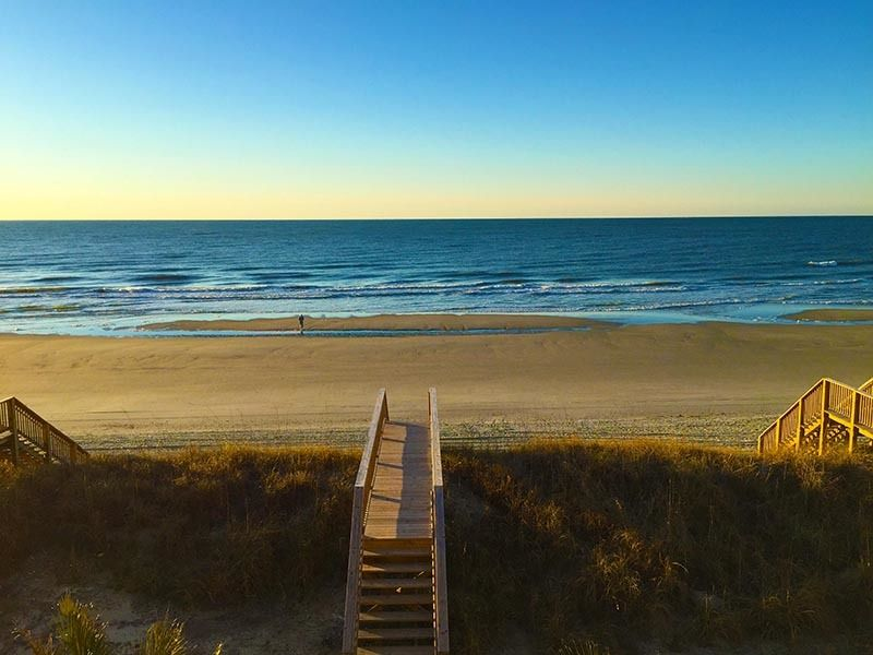 That Golden Moment Of Sunrise Over The Atlantic From North Myrtle Beach