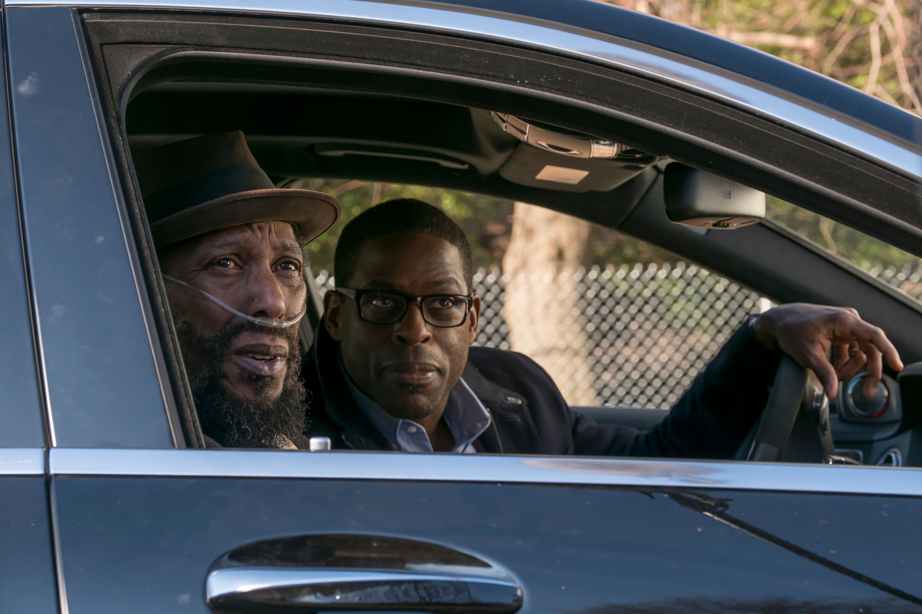 """Ron Cephas Jones as William and Sterling K. Brown as Randall in """"Memphis."""""""