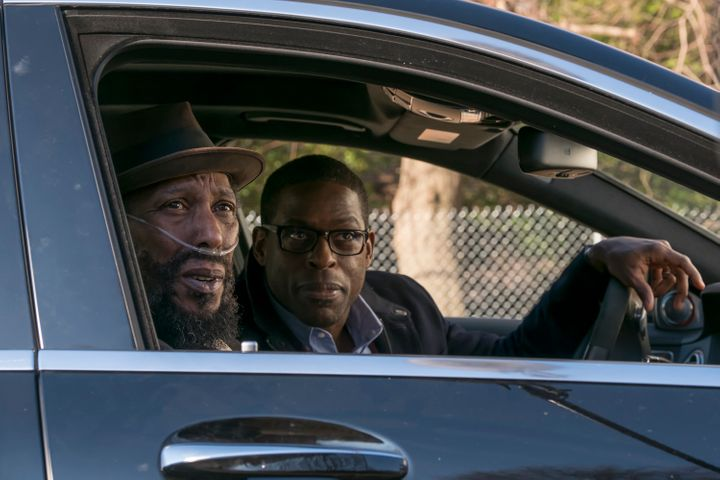"Ron Cephas Jones as William and Sterling K. Brown as Randall in ""Memphis."""